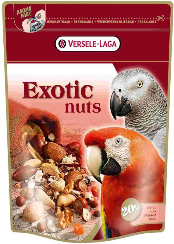 Корм для крупных попугаев Versele-Laga Exotic Nuts, 750 г корм для хорьков versele laga complete ferret 750 г