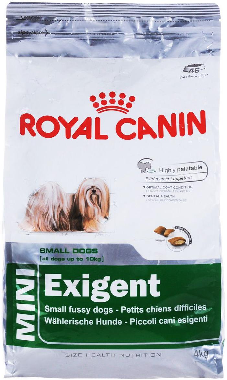 """Корм сухой Royal Canin """"Mini Exigent"""", для собак мелких пород, привередливых в питании, 4 кг"""
