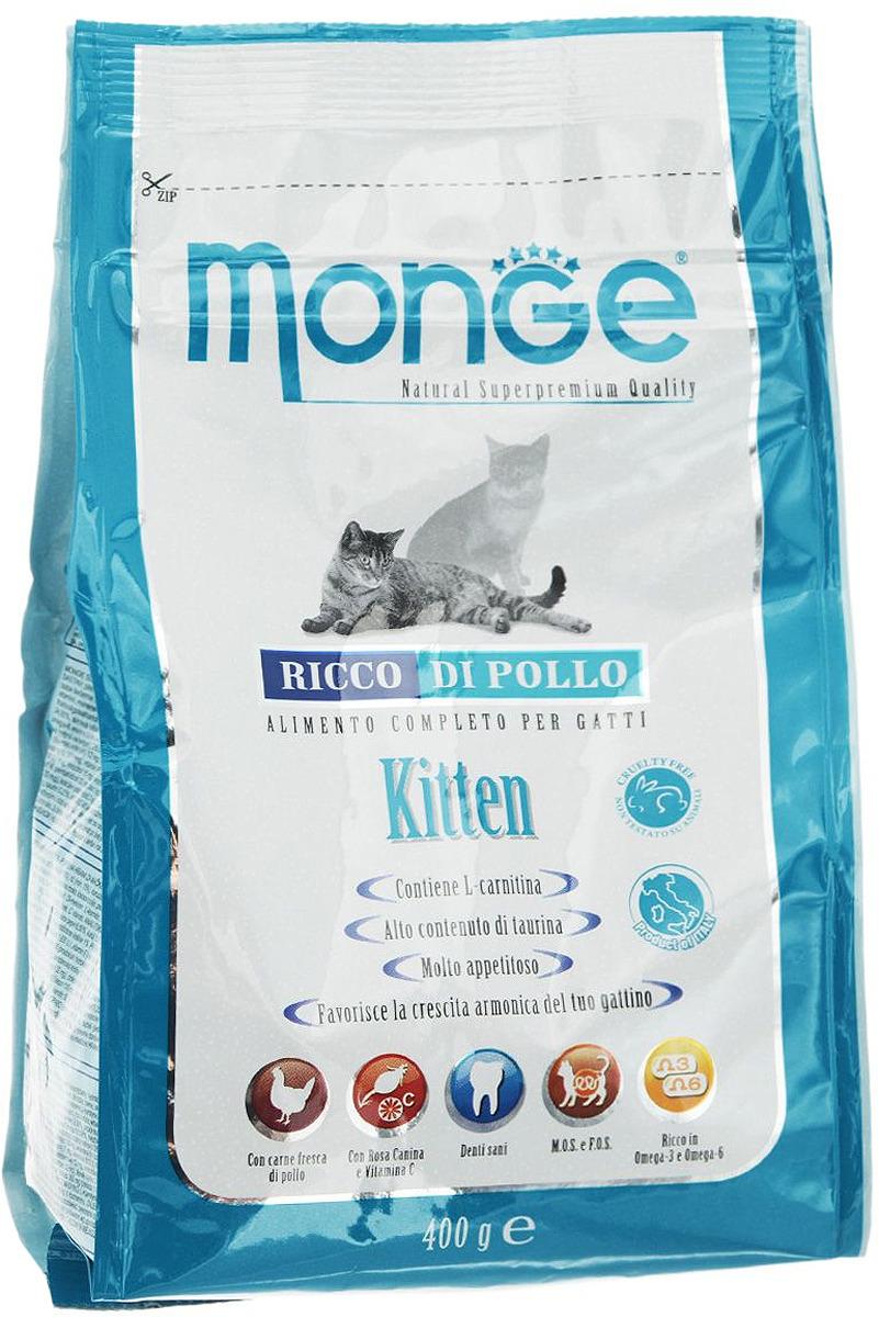 """Корм сухой """"Monge"""" для котят 400 г"""