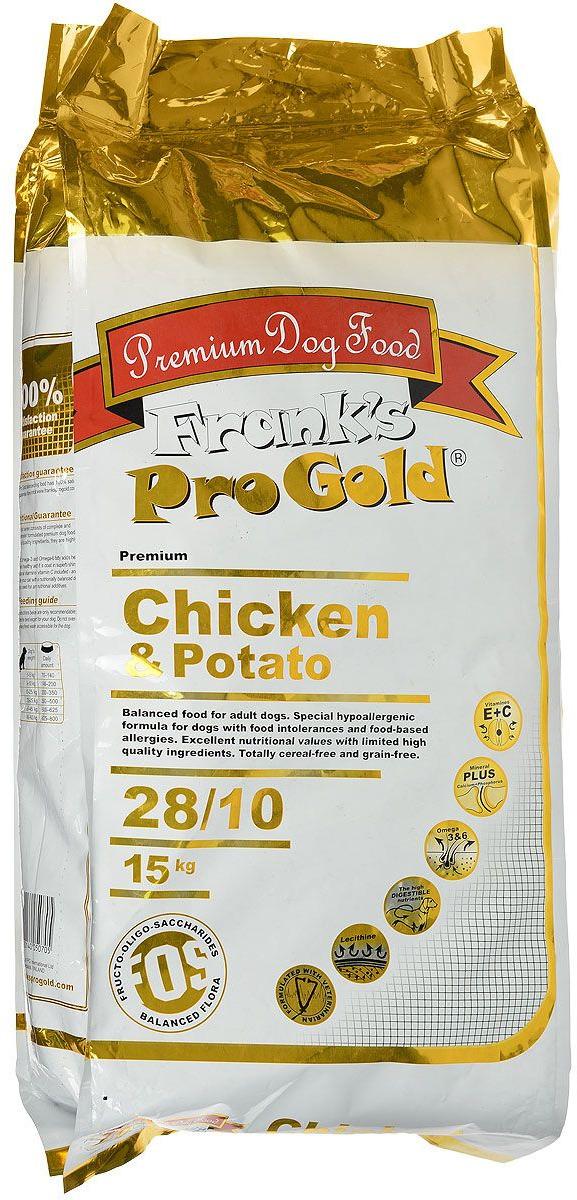 """Корм сухой беззерновой """"Frank's ProGold"""" для собак, с курицей и молодым картофелем, 15 кг"""