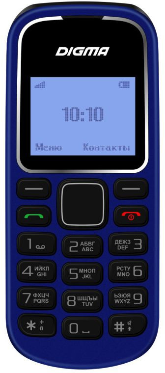 Мобильный телефон Digma Linx A105 2G, темно-синий мобильный телефон digma linx a242 2g черный фиолетовый