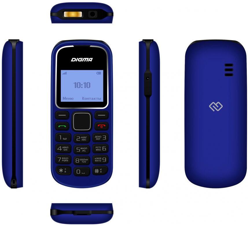 Мобильный телефон Digma Linx A105 2G, темно-синий Digma