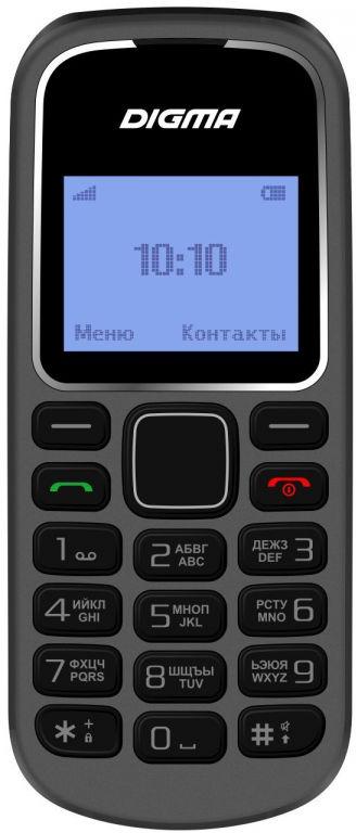 Мобильный телефон Digma Linx A105 2G, серый мобильный телефон digma linx a242 2g черный фиолетовый