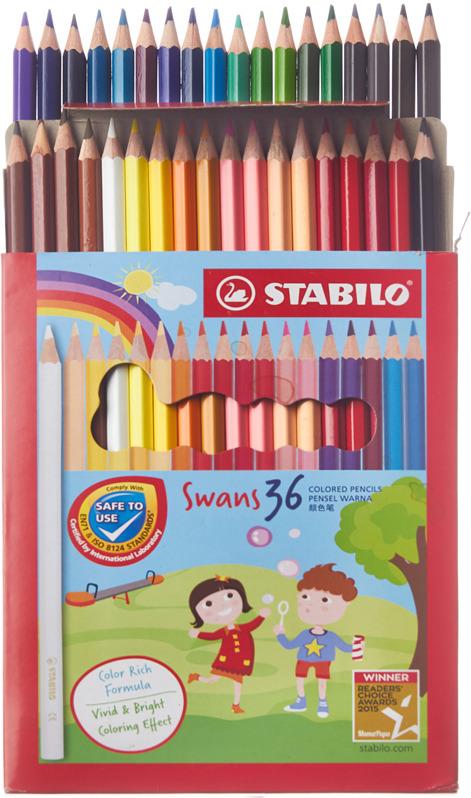 Набор цветных карандашей Stabilo Swans, 1878, 36 цветов STABILO
