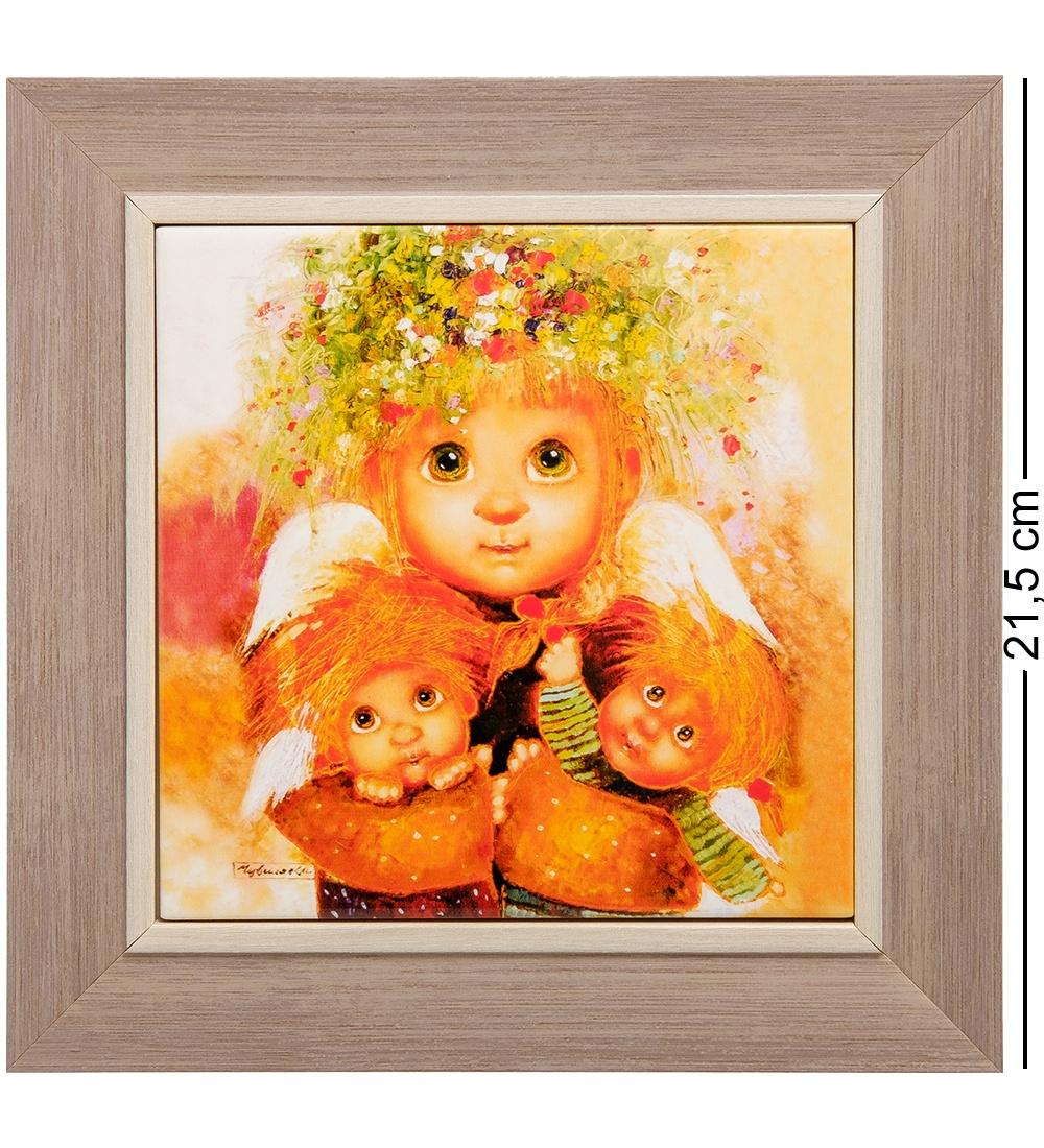 ANG-413 Панно керамическое Материнская любовь 15х15