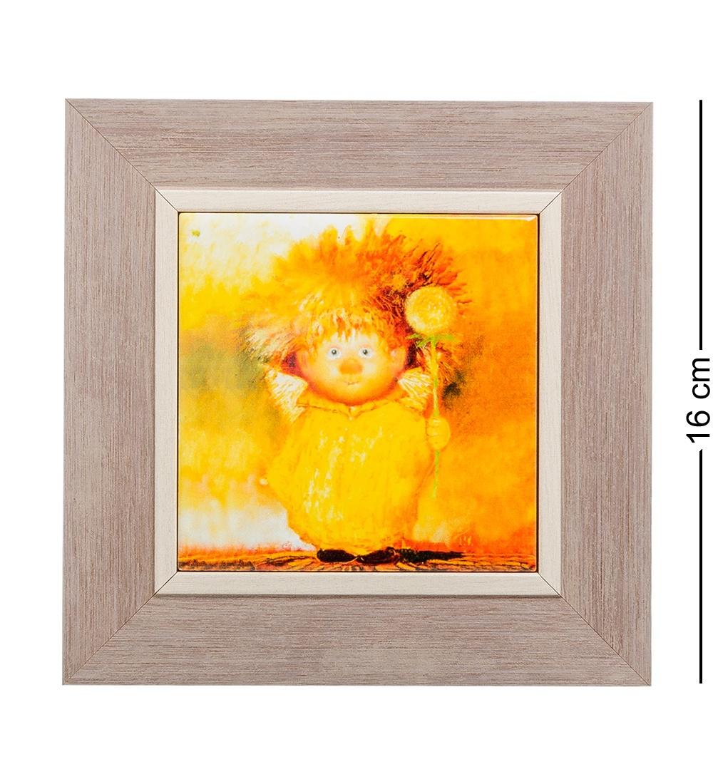 Панно Artangels ANG-39 Ангел крепкого здоровья керамическое, 501451, оранжевый, 10х10 см