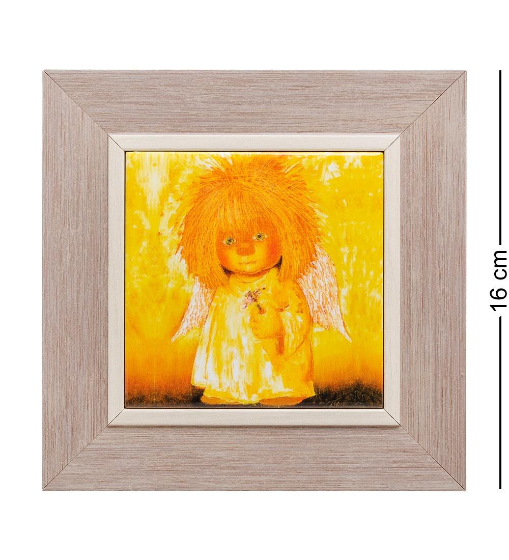 Панно Artangels Ангел с гиацинтом ANG- 42, 501454, керамическое, 10 х см