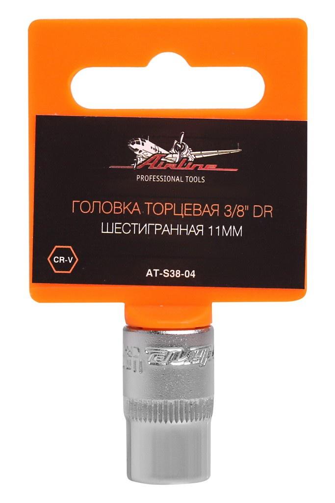 Головка торцевая 3/8 DR шестигранная 11мм (AT-S38-04) головка airline at s38 04