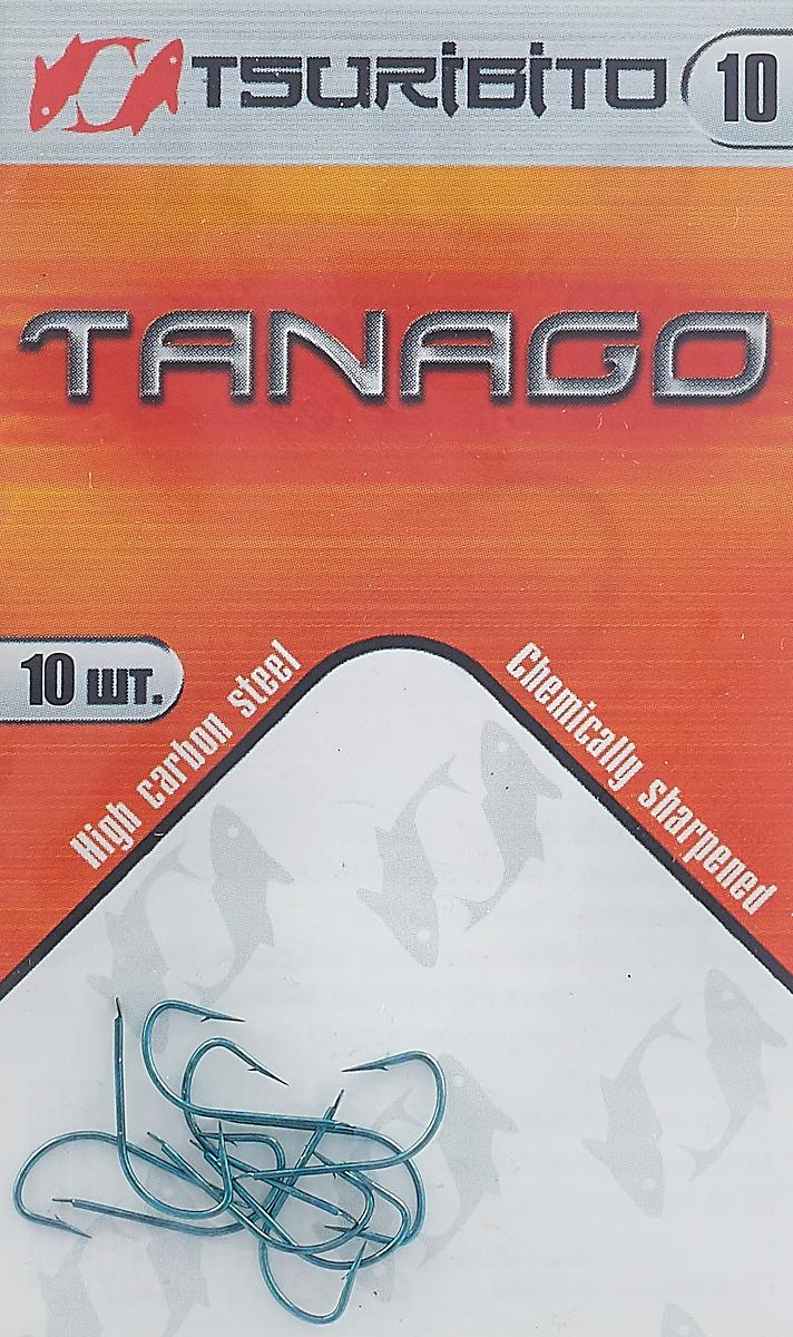 Крючки рыболовные Tsuribito Tanago №10, 10 шт крючки рыболовные cobra feeder master цвет черный размер 10 10 шт