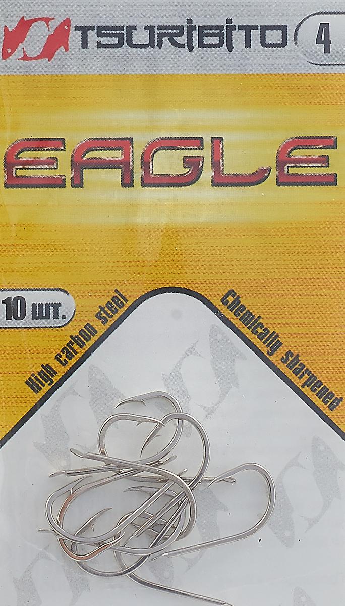 Крючки рыболовные Tsuribito Eagle №4, 10 шт
