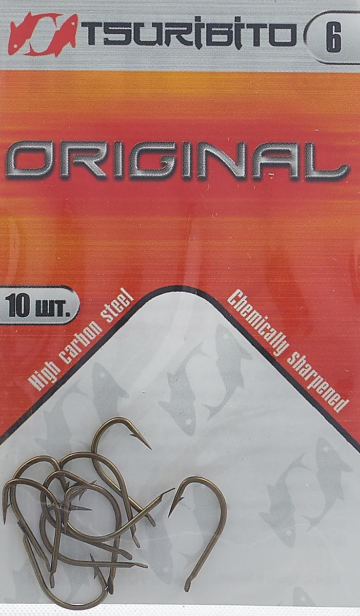 Крючки рыболовные Tsuribito Original №6, 10 шт. 34644