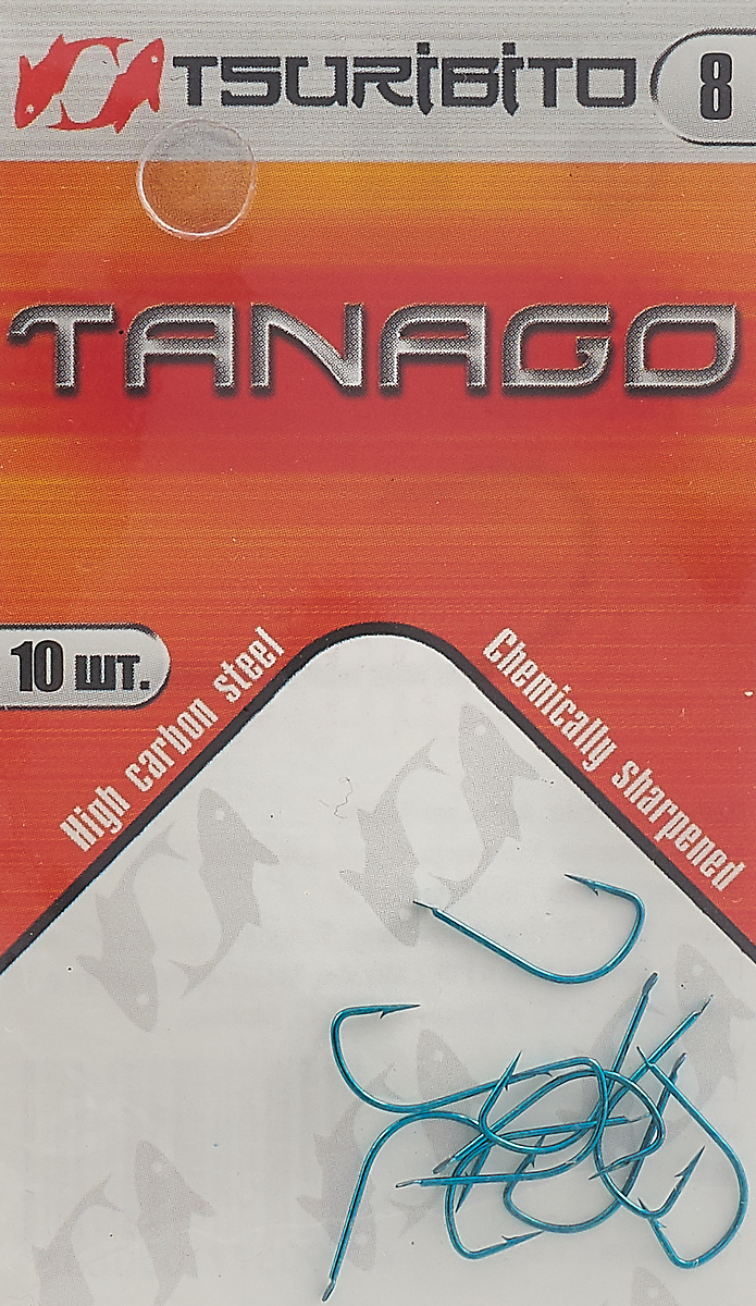 Крючки рыболовные Tsuribito Tanago №8, 10 шт