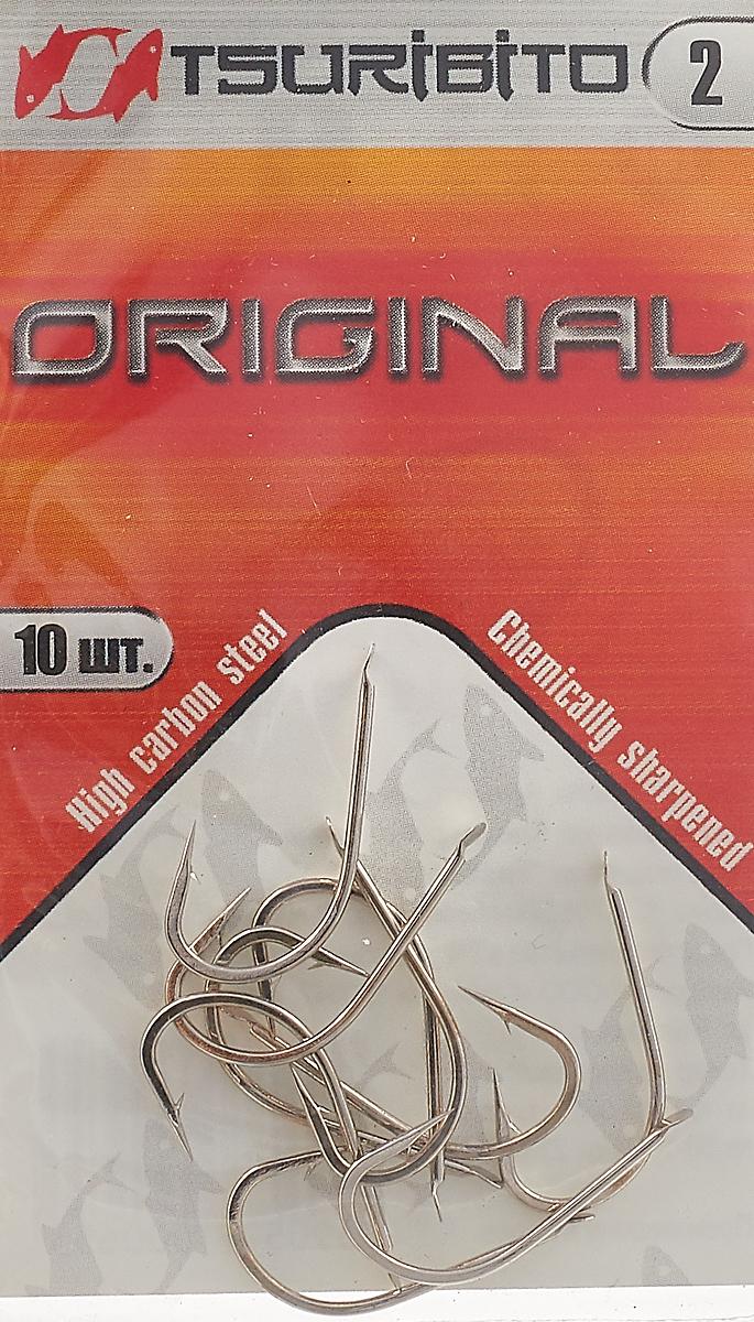 Крючки рыболовные Tsuribito Original №2, 10 шт. 34651