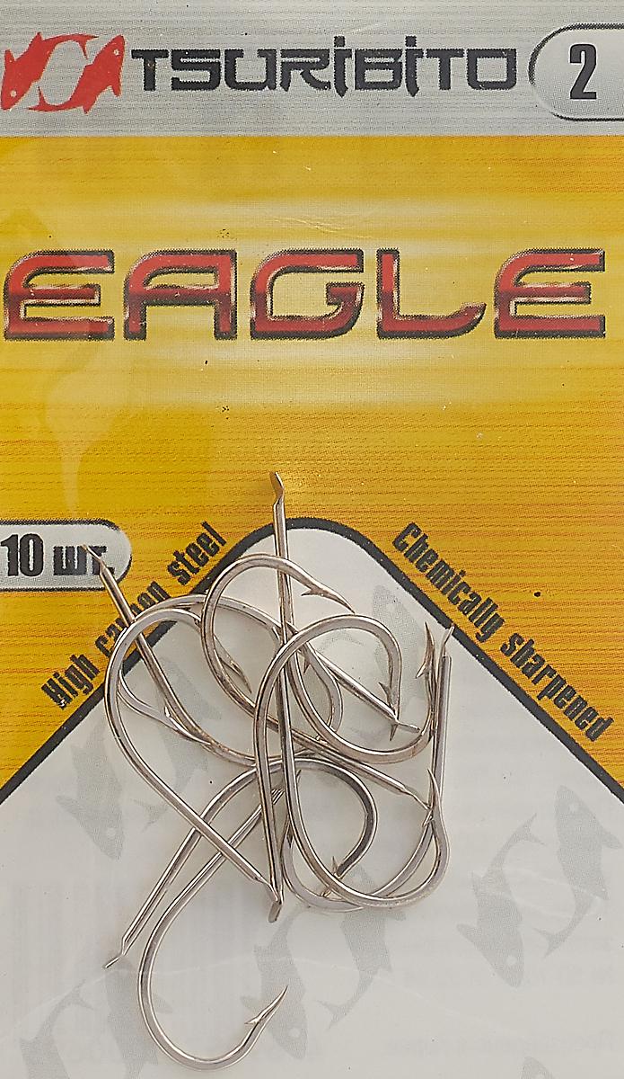 Крючки рыболовные Tsuribito Eagle №2, 10 шт карлова евгения леонидовна