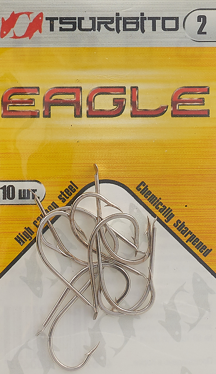 Крючки рыболовные Tsuribito Eagle №2, 10 шт