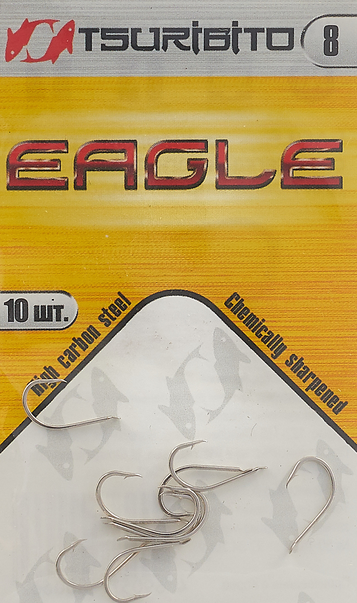 Крючки рыболовные Tsuribito Eagle №8, 10 шт