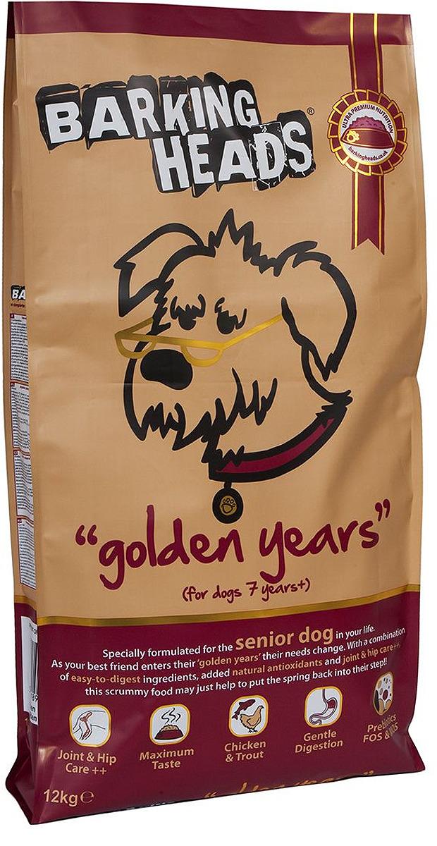 """Корм сухой Barking Heads """"Золотые годы"""", для собак старше 7 лет, с курицей и рисом, 12 кг"""