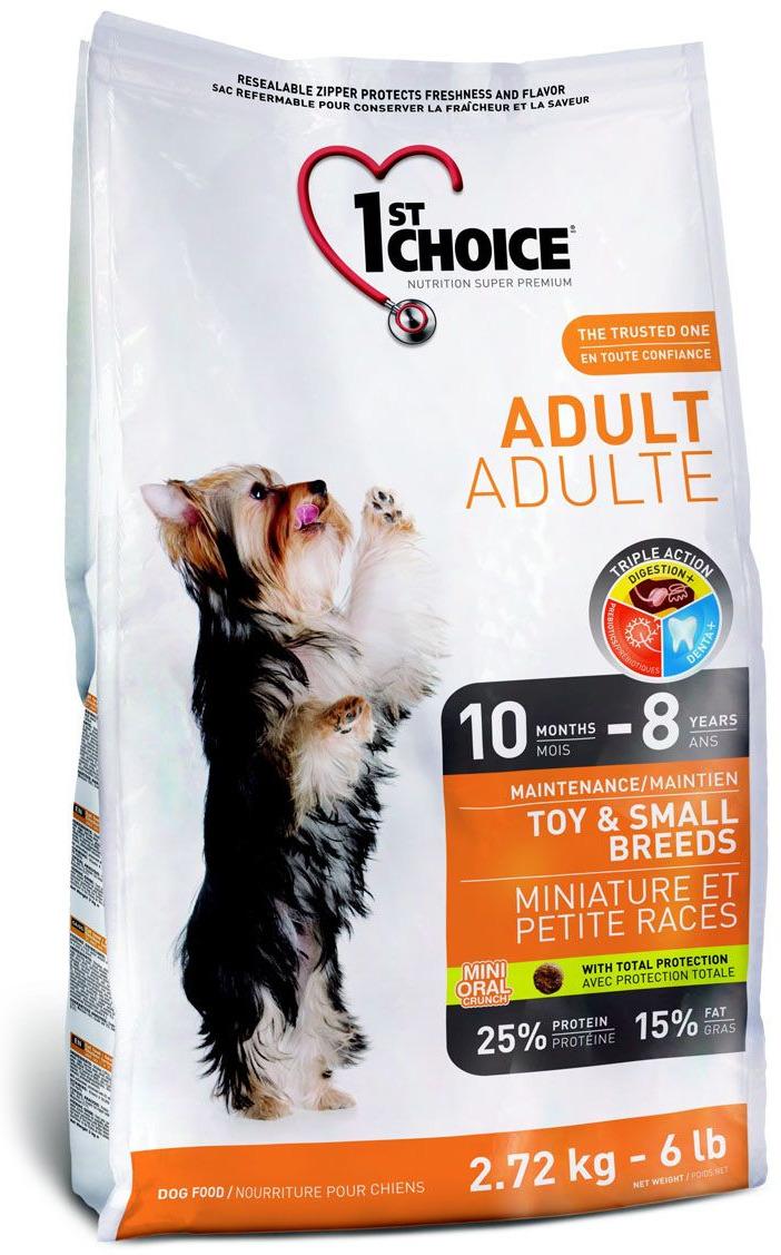 """Корм сухой 1st Choice """"Adult"""" для взрослых собак декоративных и мелких пород, с курицей, 1 кг"""