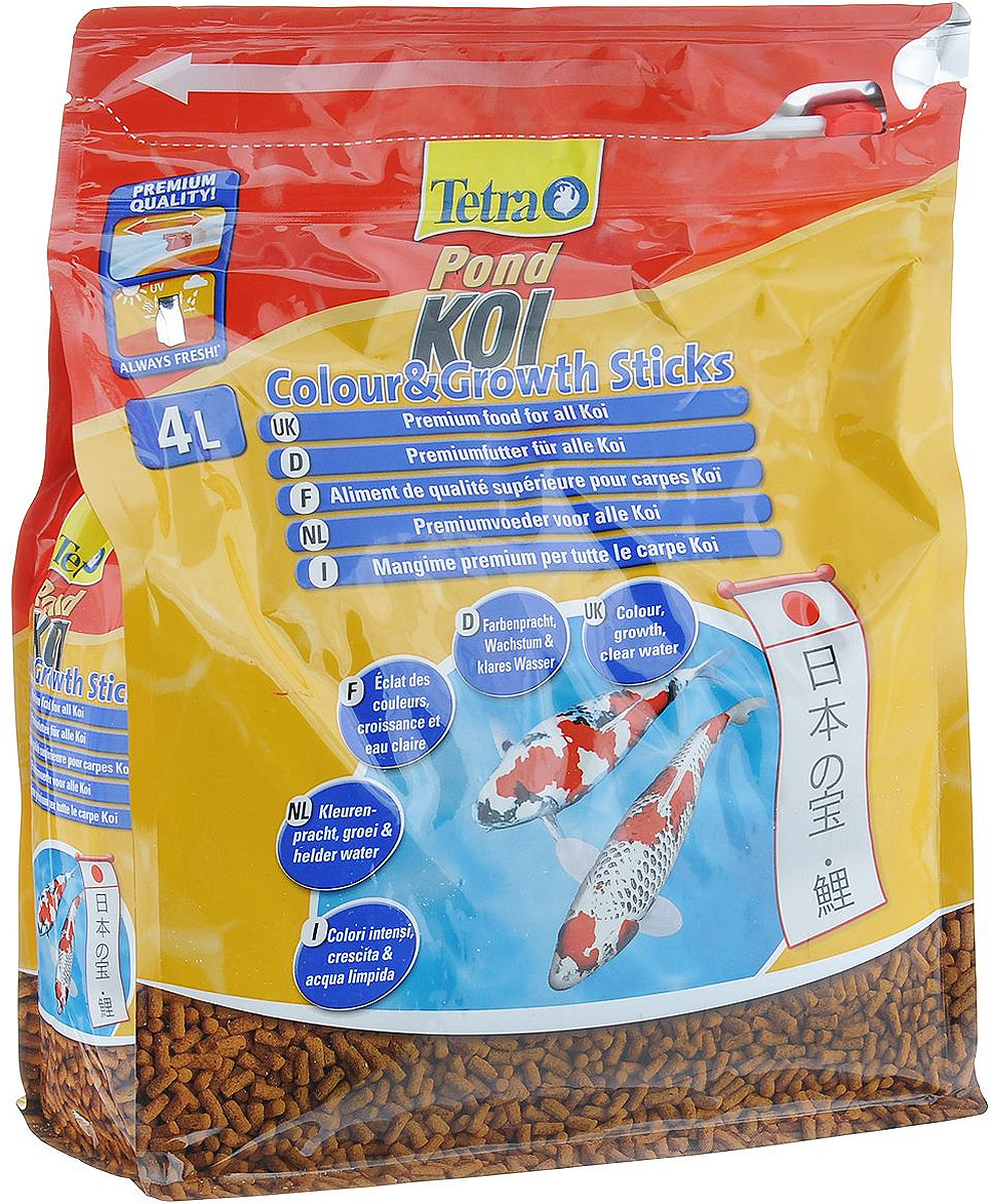 Корм сухой TetraPond Koi Sticks Energy для всех видов рыб Кои, в виде гранул, 1,2 кг tetra корм tetra koi beauty s для карпов кои размером более 10 см в виде плавающих гранул 10 л