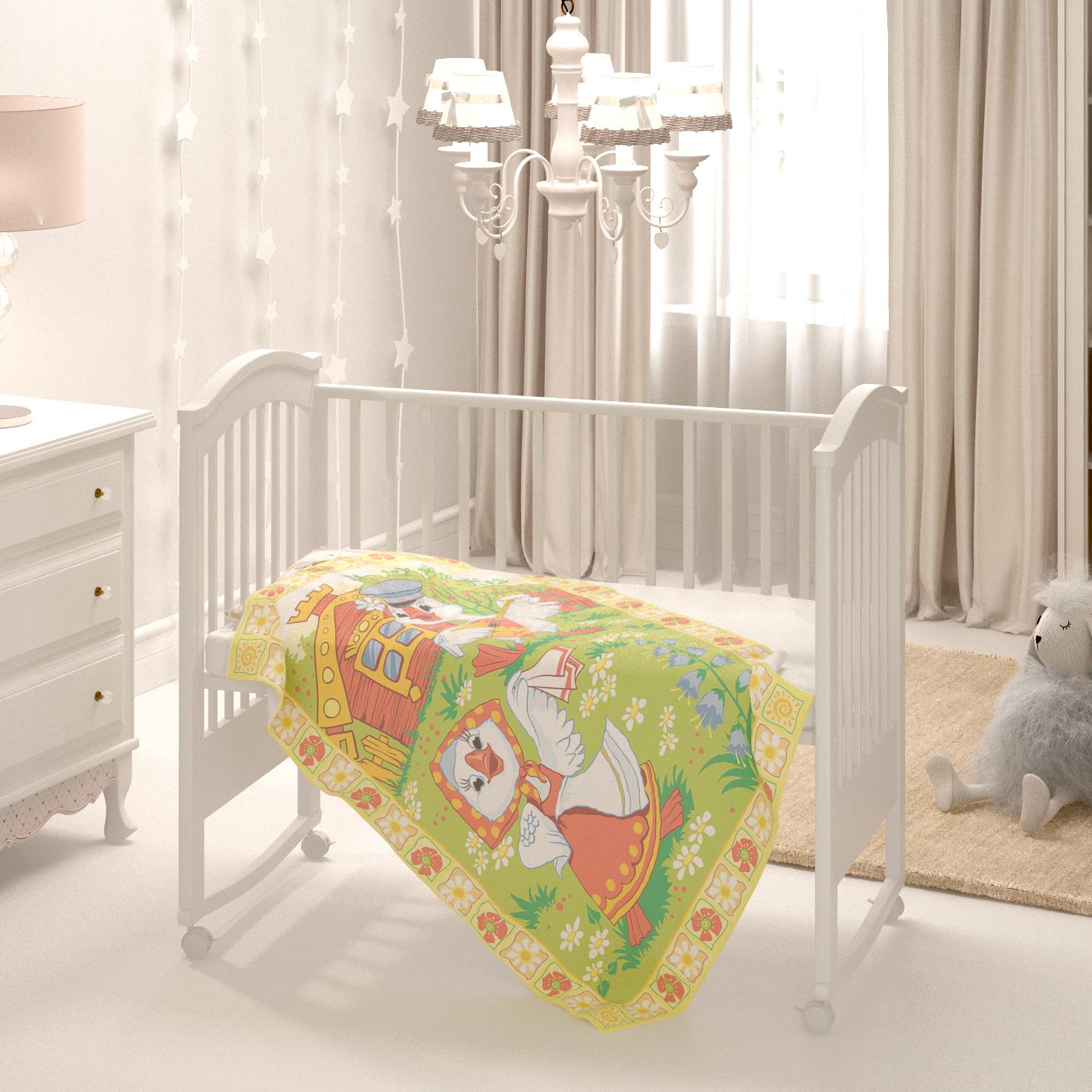 """Одеяло байковое Baby Nice Веселые гуси D321511/11, разноцветный, 100 х 140 смD321511/11Детское байковое одеяло """" Веселые гуси"""" подарит Вашему малышу максимальный уровень комфорта и крепкий сон! Эти """"дышащие"""", высоко экологичные, гигроскопичные, гипоаллергенные одеяла очень популярны как в нашей стране, так и далеко за её пределами. Эксклюзивное принтованное байковое одеяло """" Веселые гуси"""" подходит как для дома, так и для прогулки. Выдерживает множество стирок, не линяет и не теряет яркость цвета. Можно использовать круглый год. Не сомневайтесь, малыша, укрытого натуральный байковым одеялком, ждем комфортный и крепкий сон! Размер одеяла 100х140 см."""