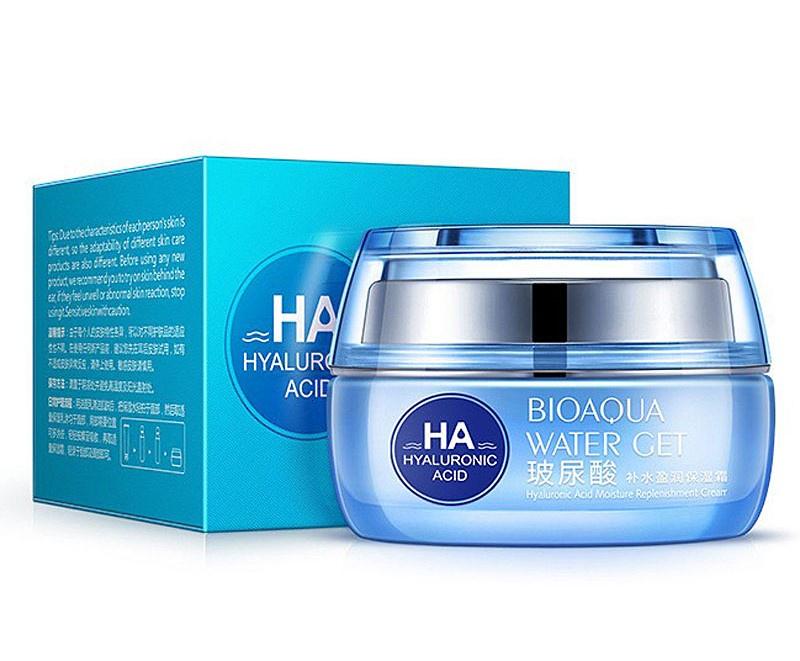 Крем для ухода за кожей BIOAQUA интенсивно увлажняющий крем для лица с гиалуроновой кислотой, 50 гр.