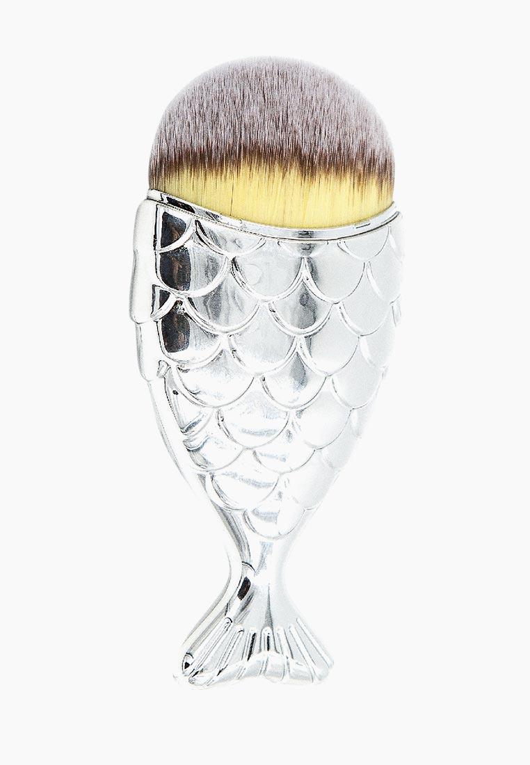 Кисть для макияжа Rimalan Русалка, 101-MD9095-01, серебряный кисть для нанесения макияжа other sigma f80