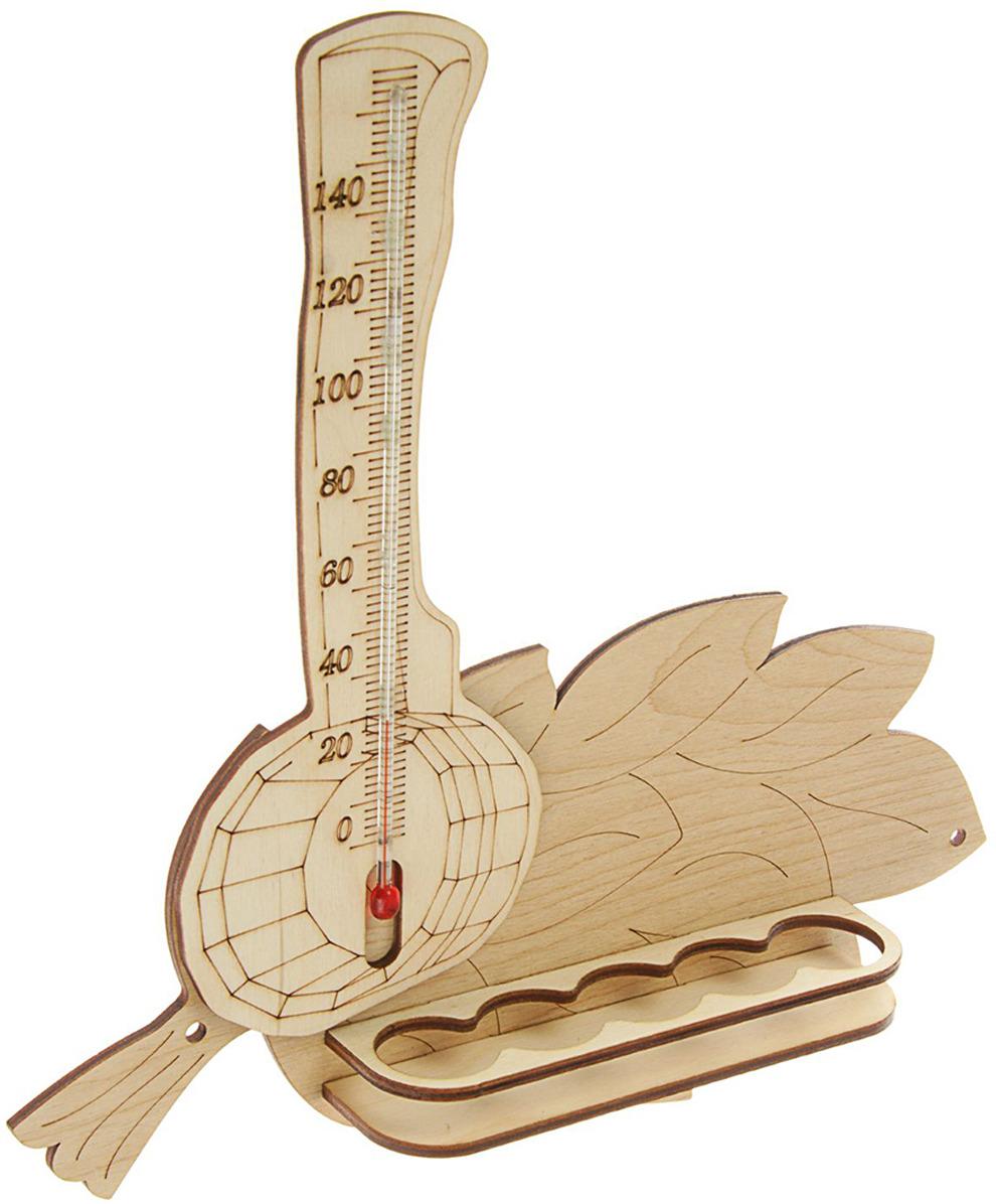 Термометр для бани и сауны Добропаровъ Ковш с веником с полками для масел, 2028909, 29 см paroc для сауны