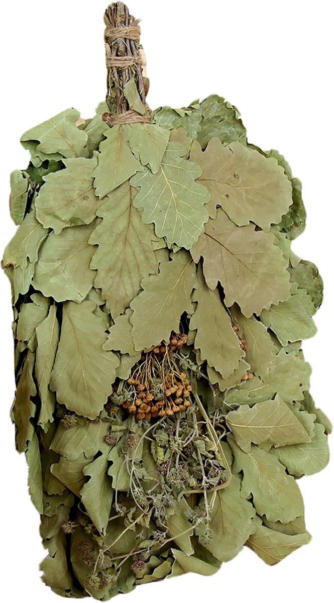 Веник для бани Добропаровъ Экстра из кавказского дуба с букетом из трав, 2691845 4 ножки для кровати из дуба gérémi