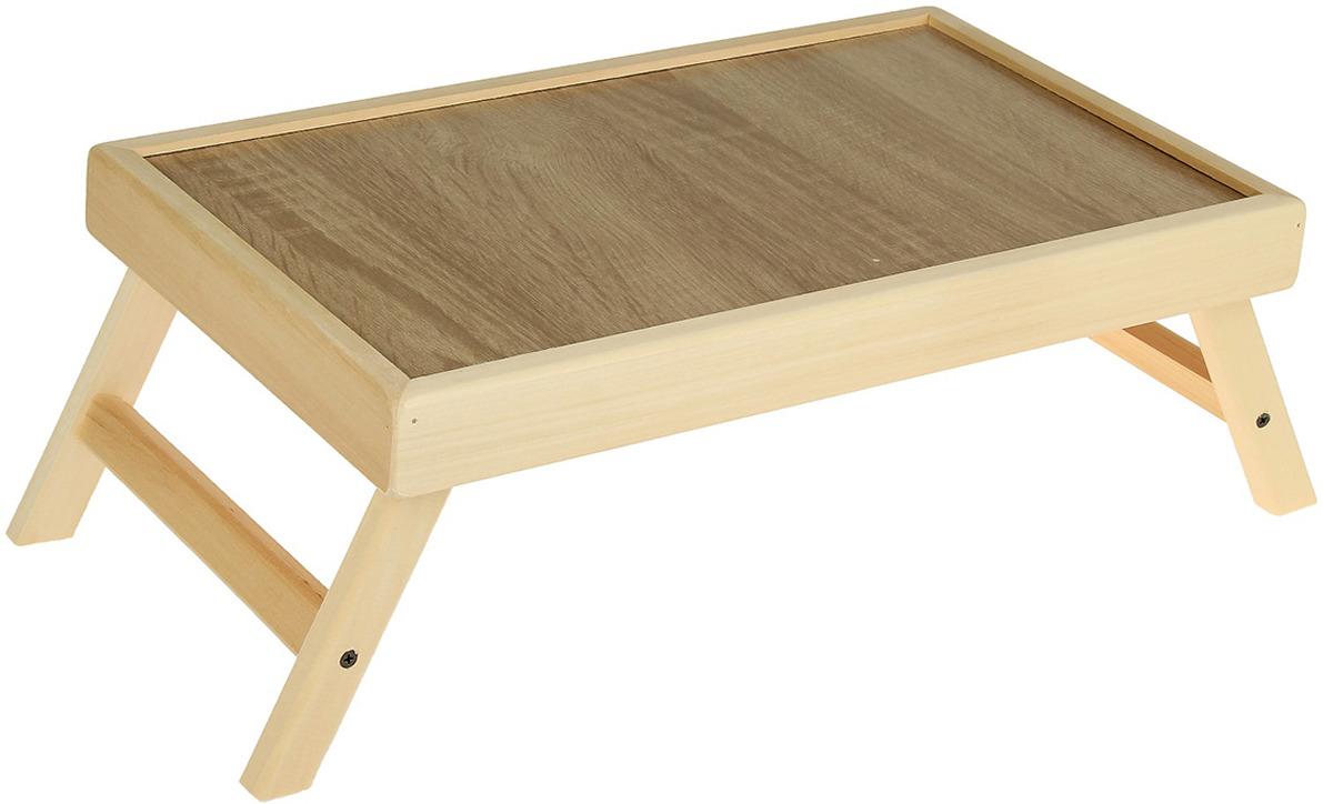Столик прикроватный Добропаровъ 3019231, бежевый, 50 x 30 см