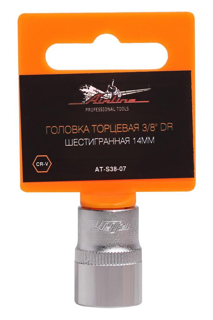 Торцевая головка Airline, AT-S38-07, шестигранная, 3/8, 14 мм защитная плёнка для huawei honor 3 антибликовая luxcase