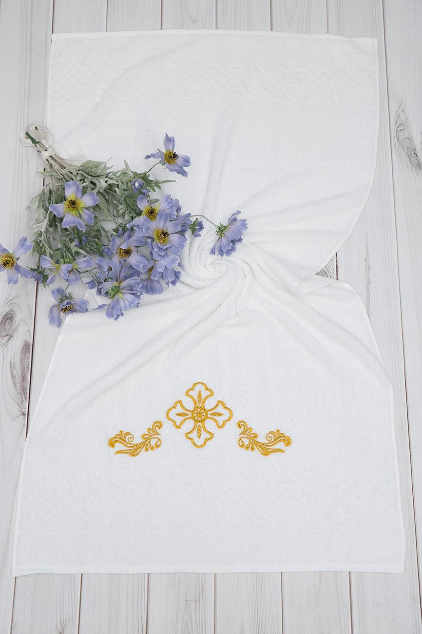 Крестильное полотенце Alivia Kids, цвет: белый. 12.701.12. 130 х 70 см