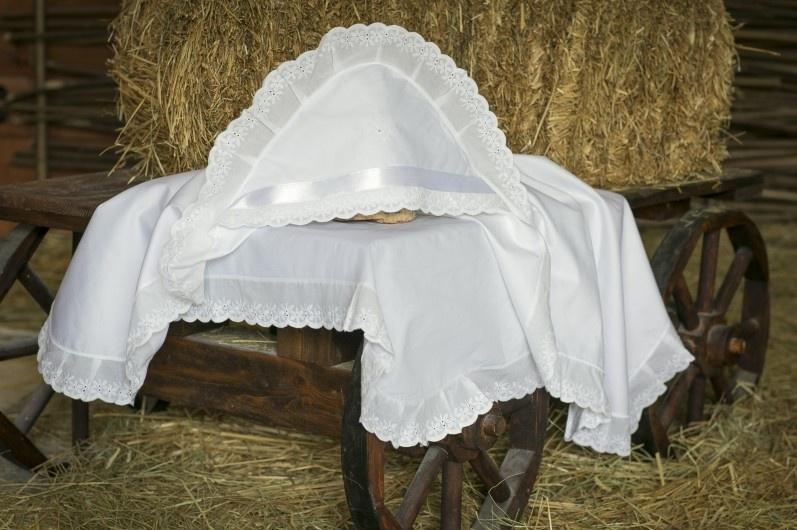 Крестильная пеленка Alivia Kids, 1280410100, белый, 100 х 100 см для крещения пеленка