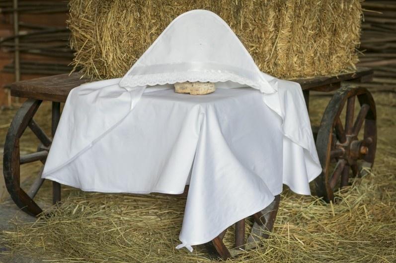 Крестильная пеленка Alivia Kids, 1280510900, белый, 90 х 90 см для крещения пеленка