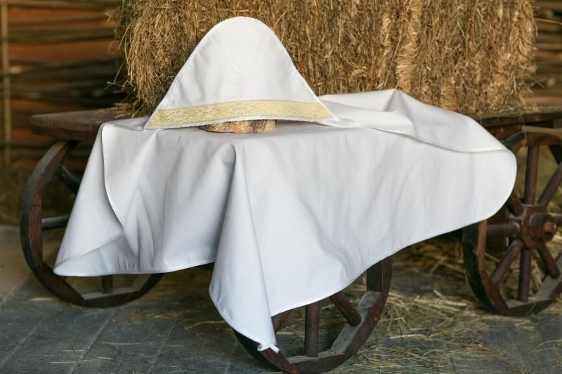 Крестильная пеленка Alivia Kids, 1280912900, белый, 90 х 90 см для крещения пеленка