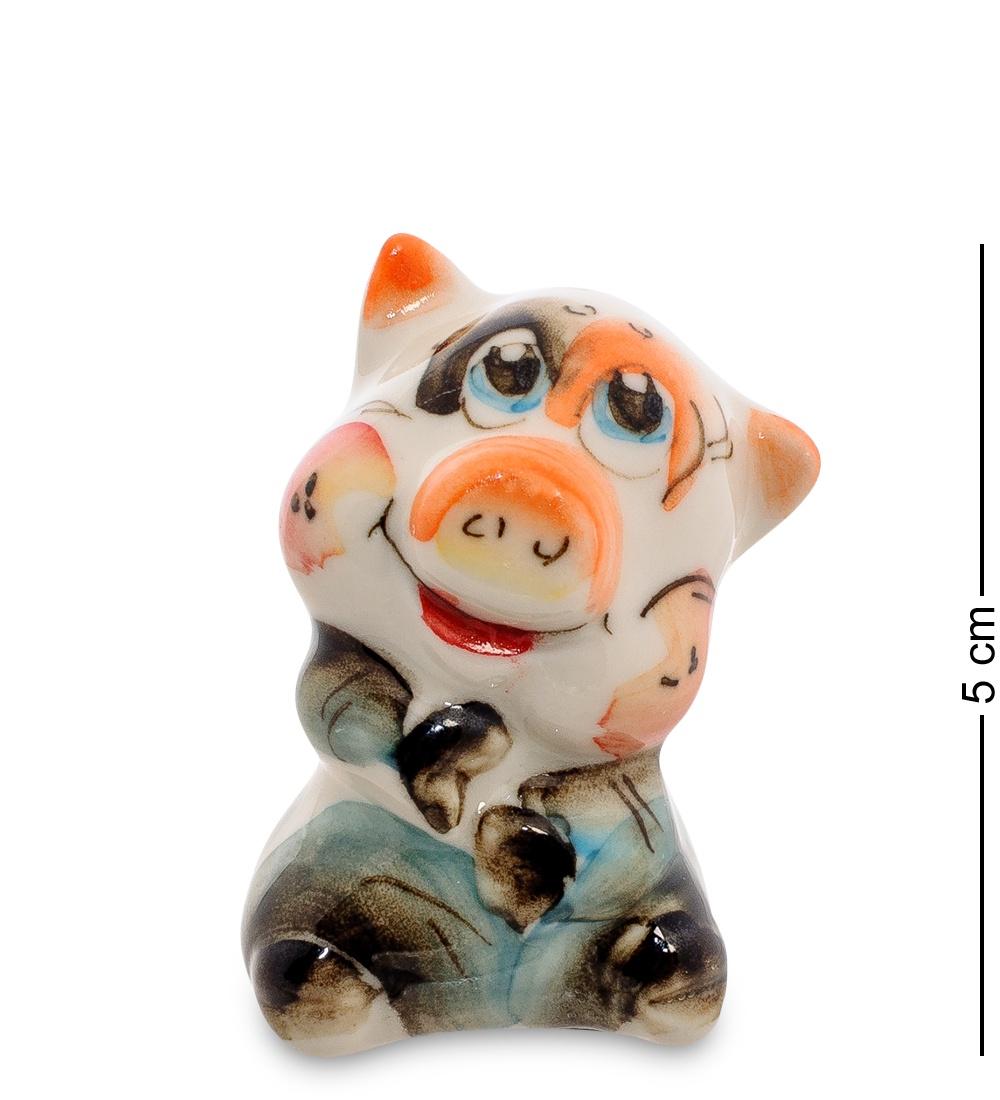 Фигурка Гжельский Фарфор ''Свинка'' 706197, разноцветный фигурка гжельский фарфор поросенок фунтик 706247