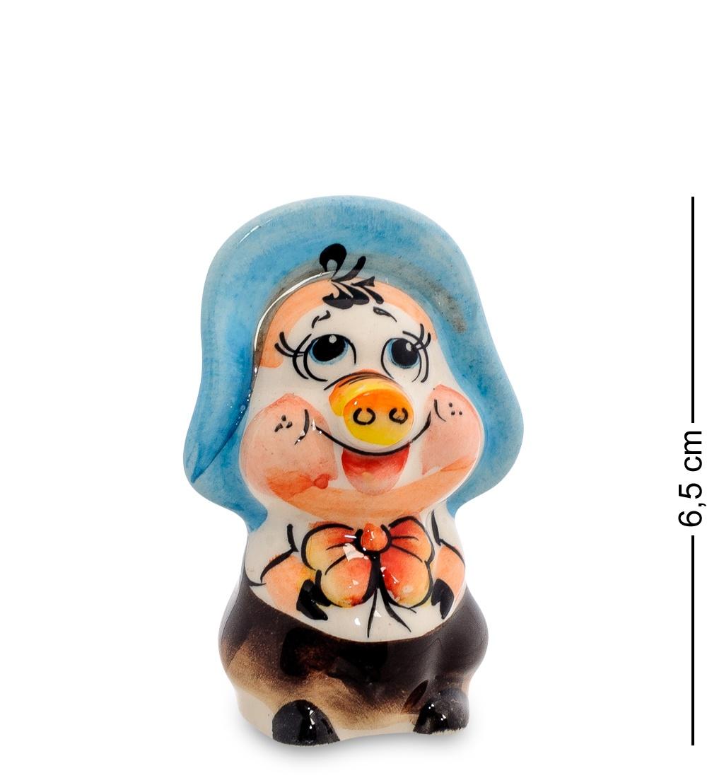 Фигурка Гжельский фарфор ''Поросенок-Фунтик'', 706247 фигурка гжельский фарфор поросенок фунтик 706247