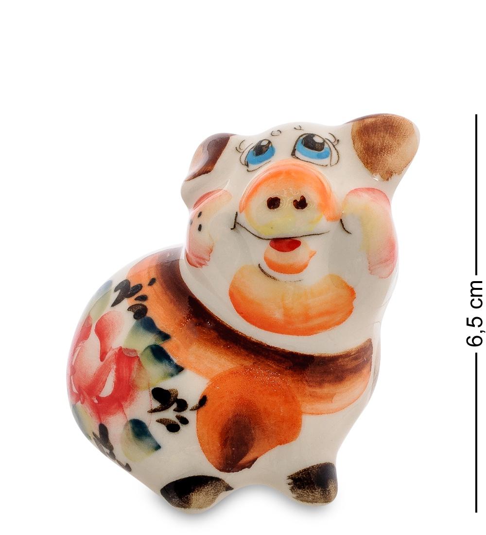 цена на Фигурка Гжельский фарфор ''Свинка'' 706209, разноцветный
