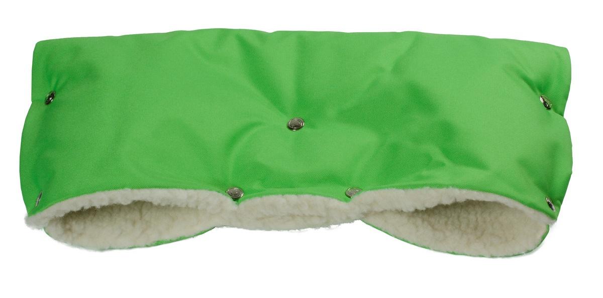 Муфта для рук на коляску Чудо-Чадо Комфорт, МКМ22-001, ярко-зеленый муфта для рук еду еду раздельная на коляску плащевая ткань натуральный мех синтепон зима красный