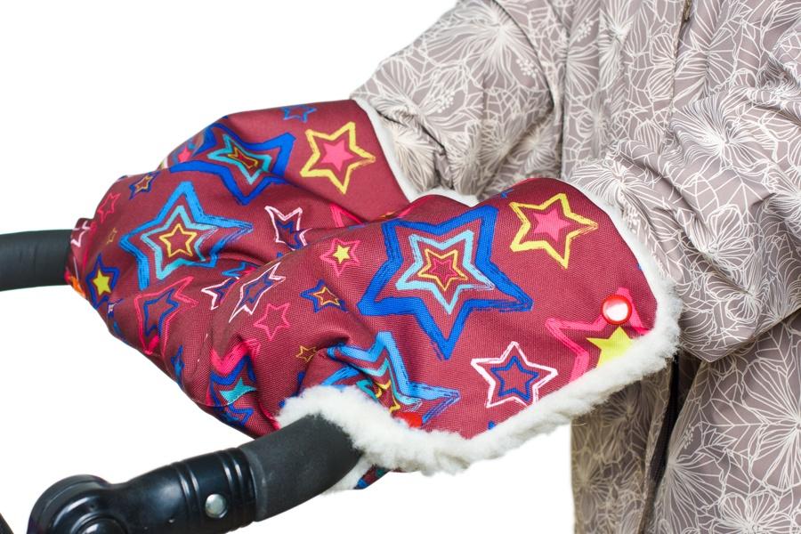 Муфта для рук на коляску Чудо-Чадо Комфорт, МКМ14-000, бордовый, синий муфта для рук еду еду раздельная на коляску плащевая ткань натуральный мех синтепон зима красный