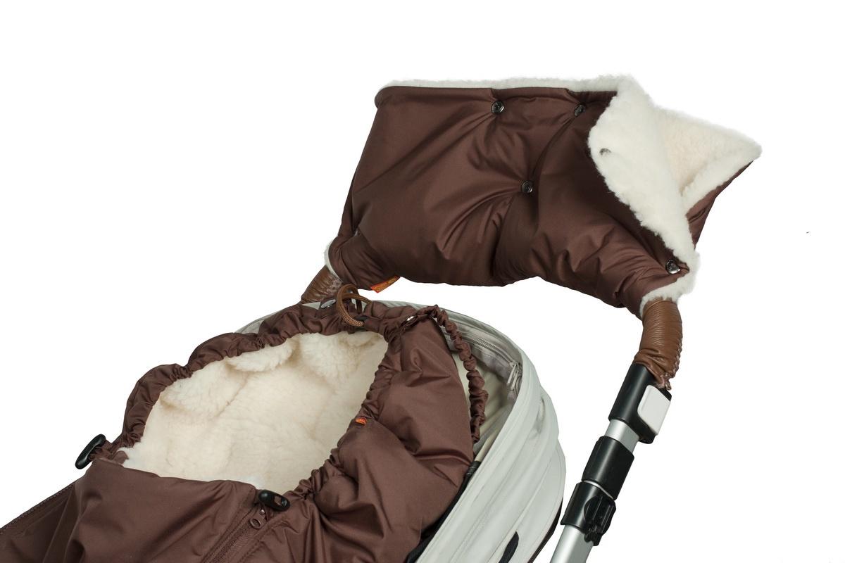 Муфта для рук на коляску Чудо-чадо Классика, МКМ19-000, шоколадный муфта для рук на коляску чудо чадо мкф18 000 флис хаки