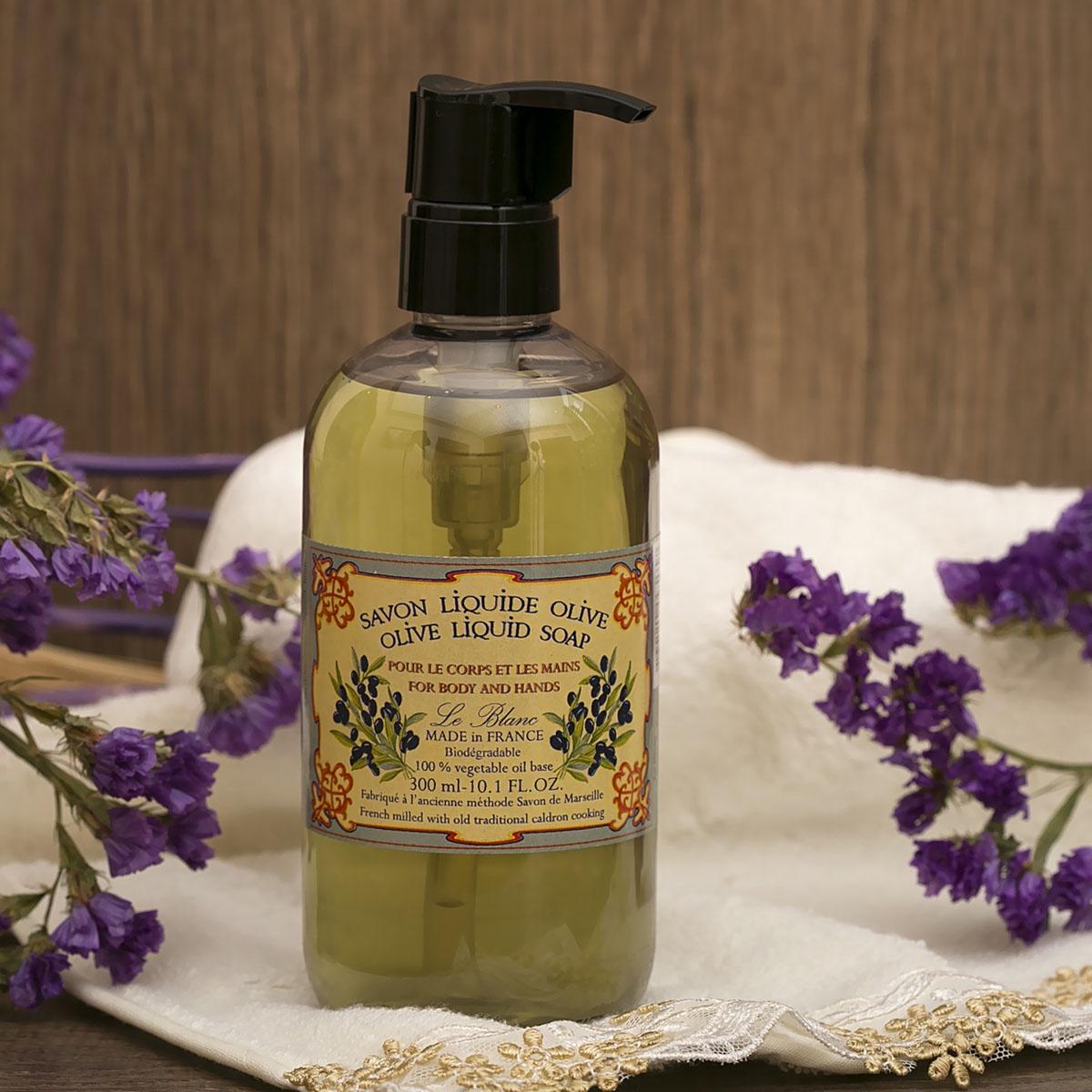 Жидкое мыло Le Blanc Оливки мыло ручной работы le blanc оливки в жестяной коробочке 100 г франция