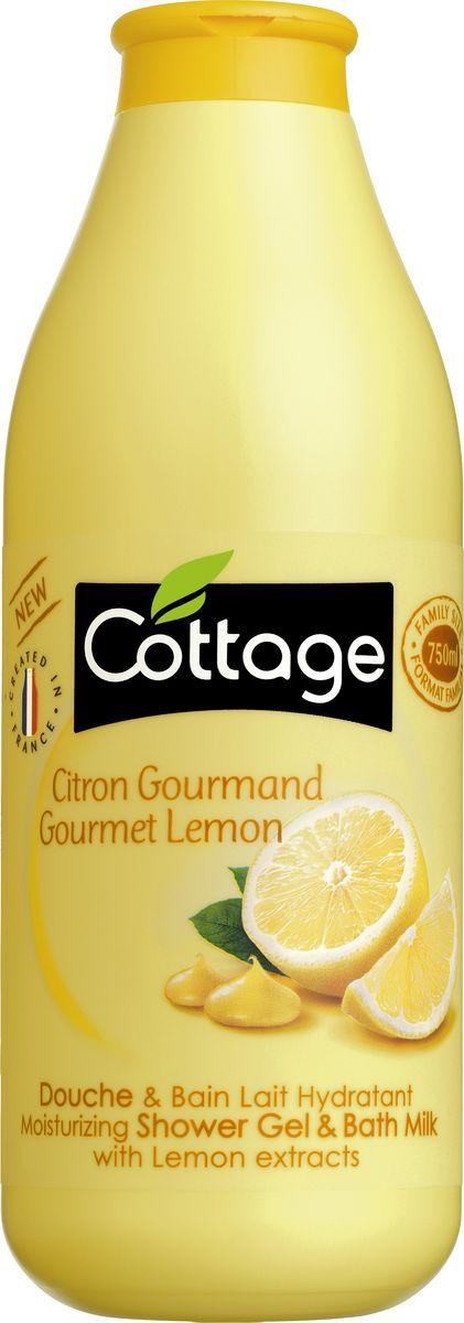 Гель для душа и пена для ванн Cottage Лимон, увлажняющий, 750 мл гель для душа и пена для ванн cottage зеленый чай бодрящий 750 мл