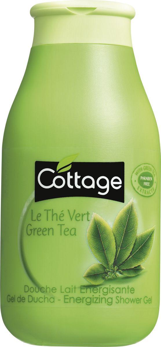 Гель для душа Cottage Зеленый Чай, бодрящий, 250 мл гель для душа и пена для ванн cottage зеленый чай бодрящий 750 мл