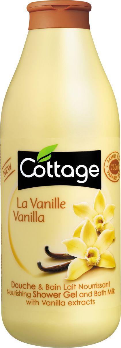Гель для душа и пена для ванн Cottage Ваниль, питательный, 750 мл гель для душа и пена для ванн cottage зеленый чай бодрящий 750 мл