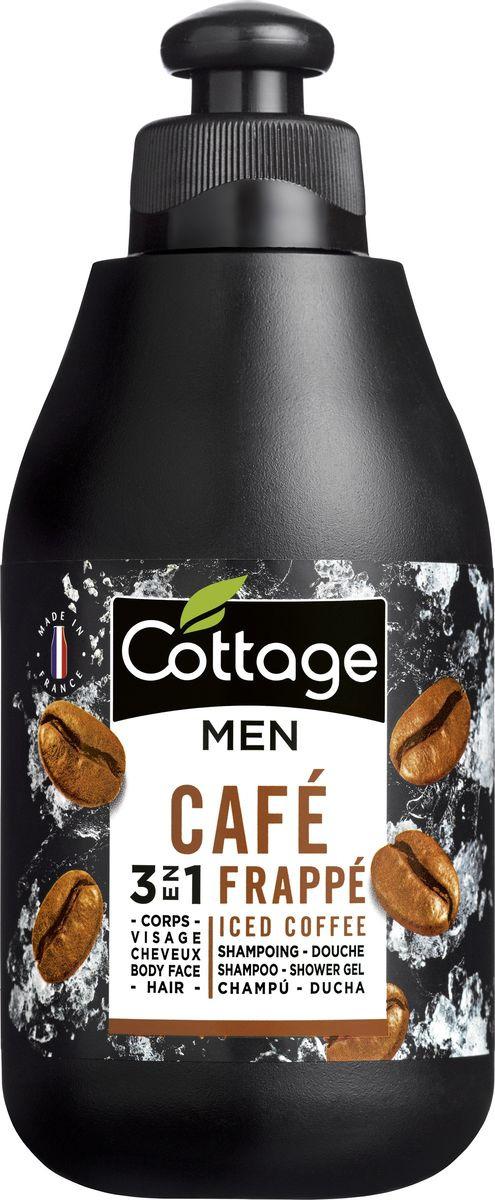 Шампунь для волос и гель для душа мужской Cottage Холодный Кофе, 250 мл лосьон для тела cottage cottage co079lwfzhs1
