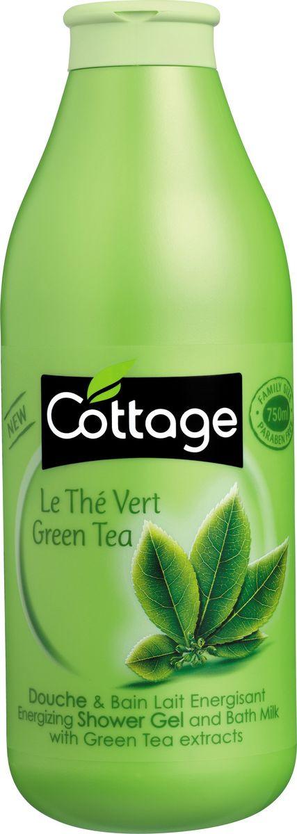 Гель для душа и пена для ванн Cottage Зеленый Чай, бодрящий, 750 мл гель для душа и пена для ванн cottage зеленый чай бодрящий 750 мл