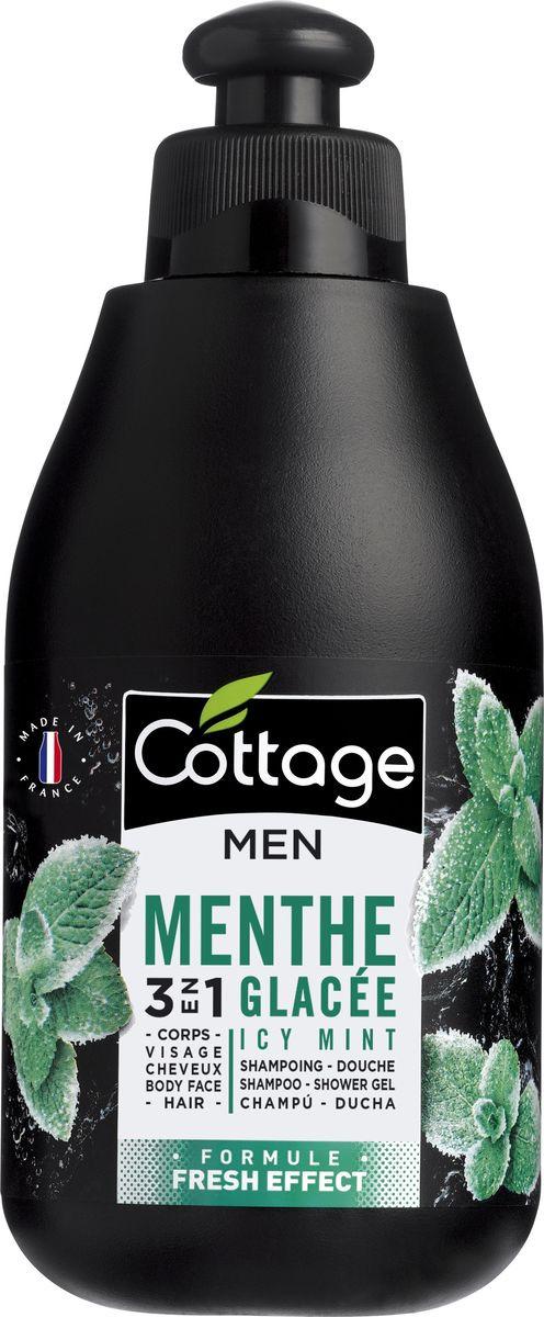 Шампунь для волос и гель для душа мужской Cottage Освежающая Мята, 250 мл лосьон для тела cottage cottage co079lwfzhs1