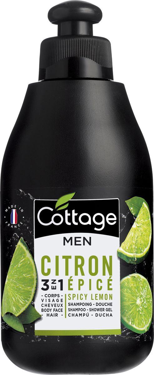 Шампунь для волос и гель для душа мужской Cottage Пряный Лайм, 250 мл лосьон для тела cottage cottage co079lwfzhs1