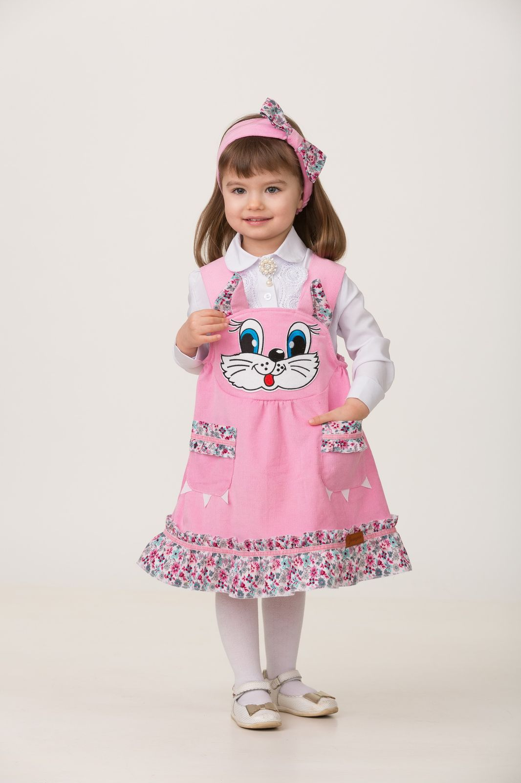 Карнавальный костюм Jeanees Кошечка Царапка, цвет: розовый. Размер: 28 jeanees карнавальный костюм врач jeanees