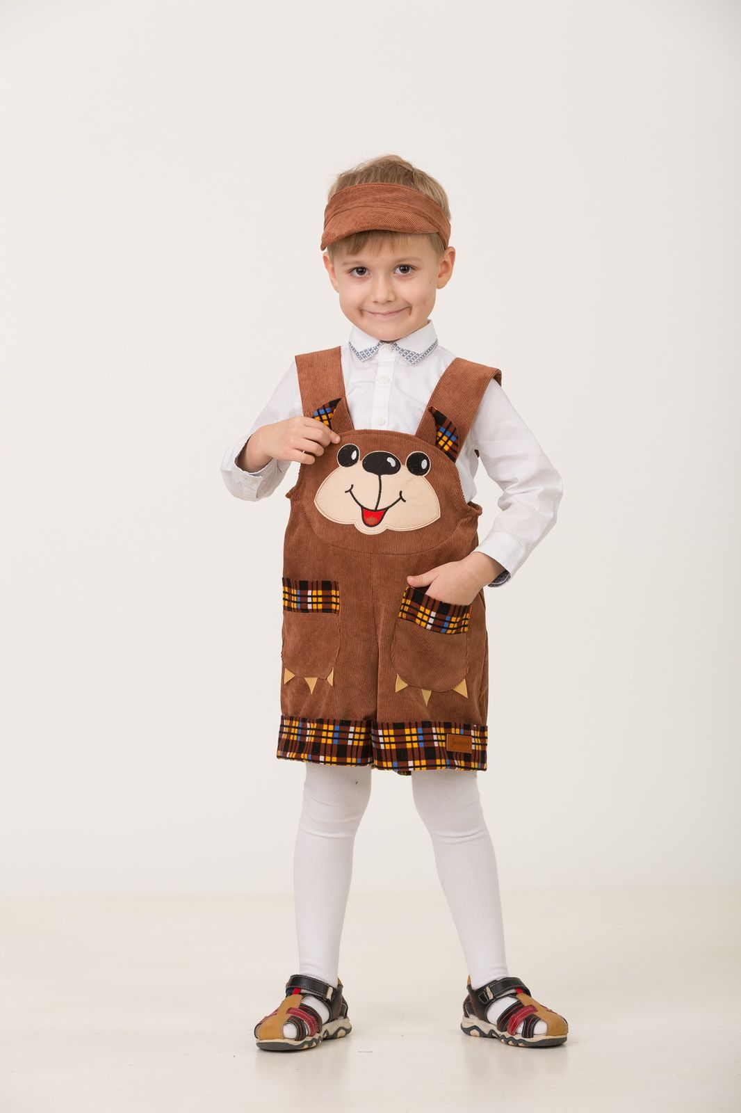 Карнавальный костюм Jeanees Медвежонок Топтыжкин, цвет: коричневый. Размер: 30 карнавальный костюм jeanees медвежонок топтыжкин цвет коричневый размер 28